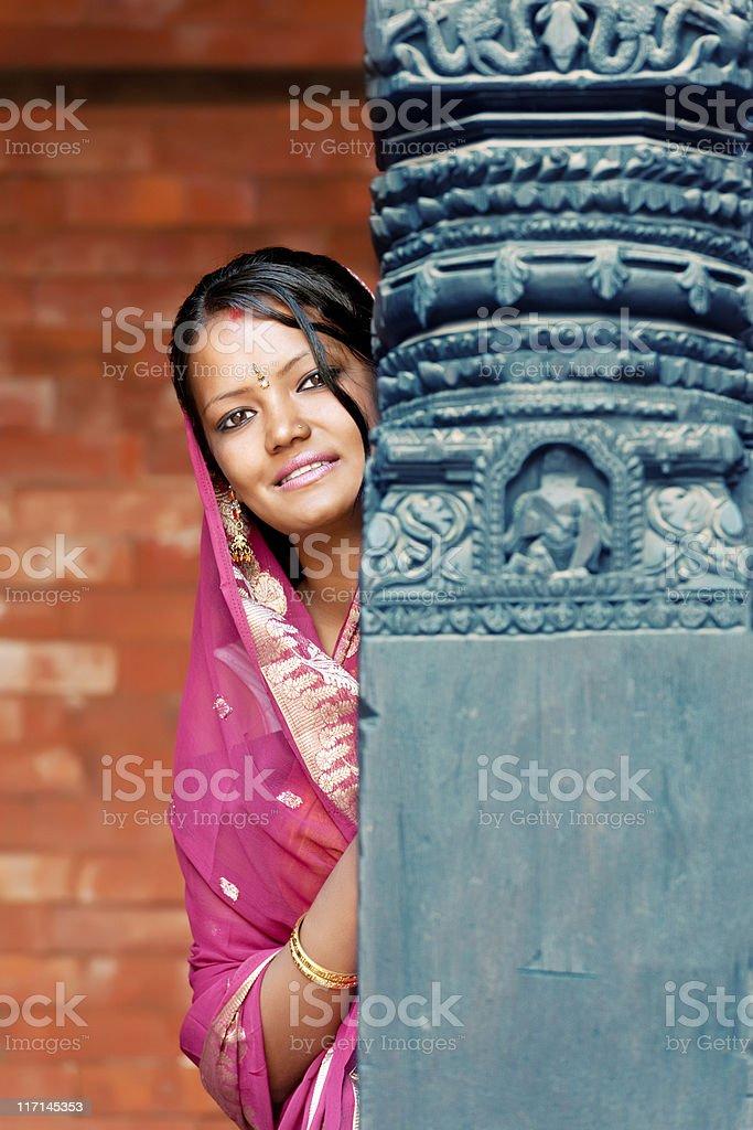 Beautiful Nepalese woman royalty-free stock photo