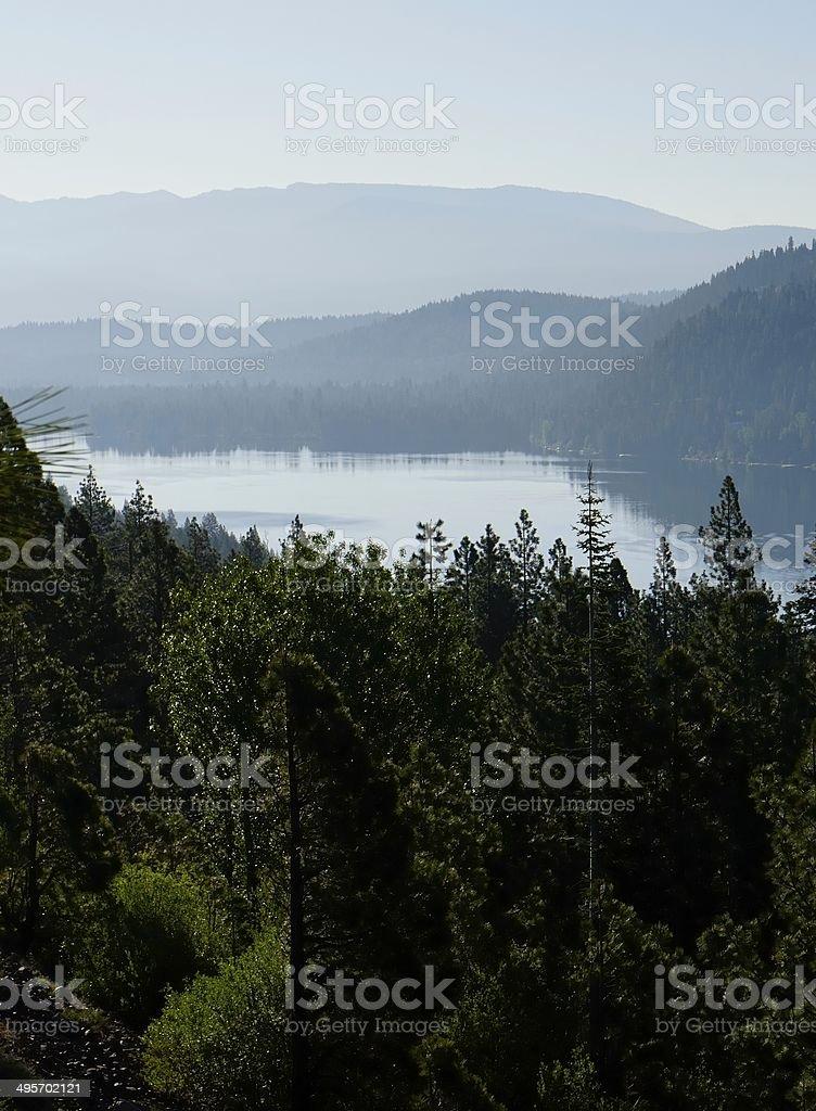 Beautiful Nevada landscape in backlit morning light royalty-free stock photo