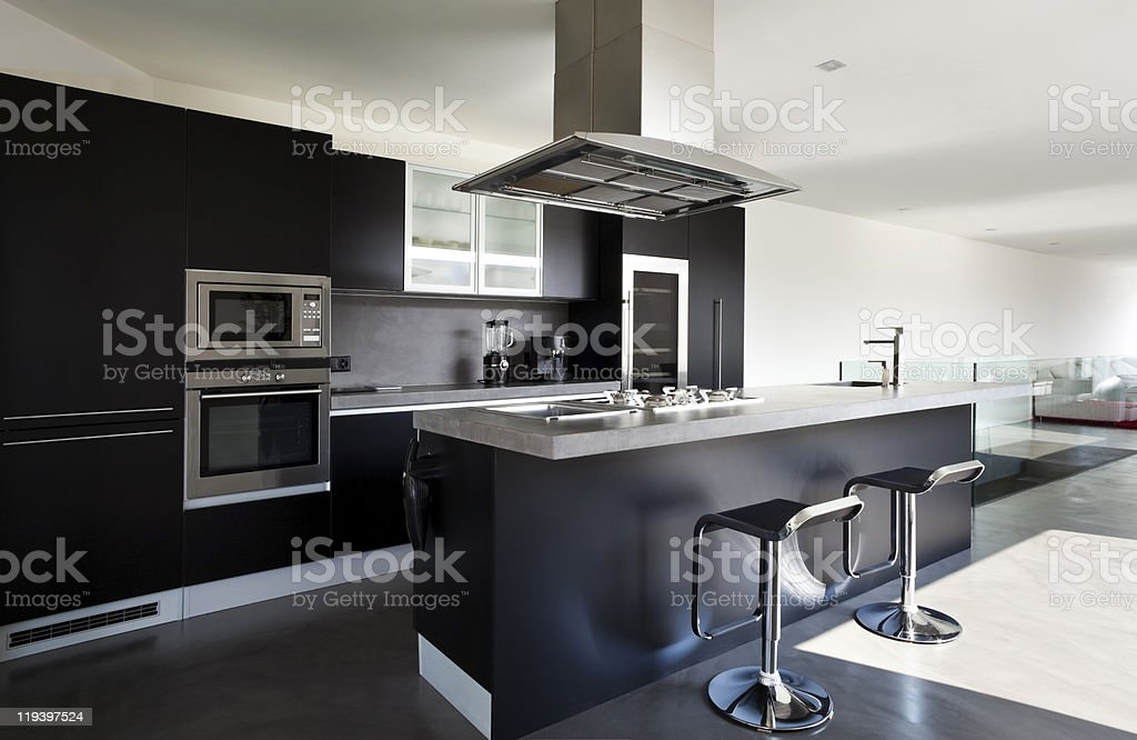 beautiful new apartment stock photo
