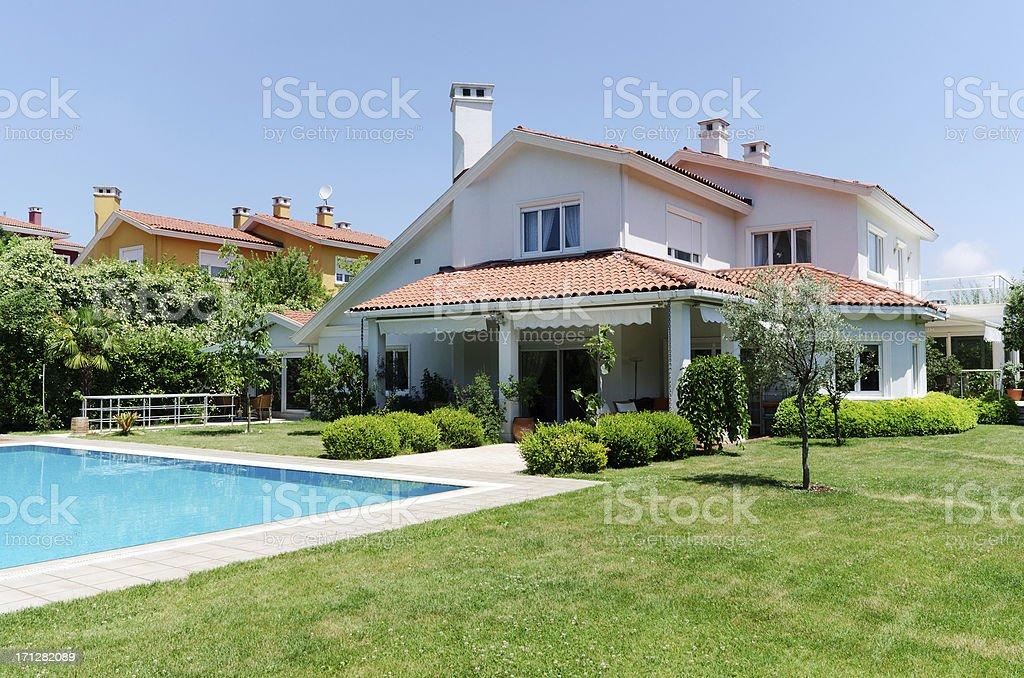Beautiful new home stock photo