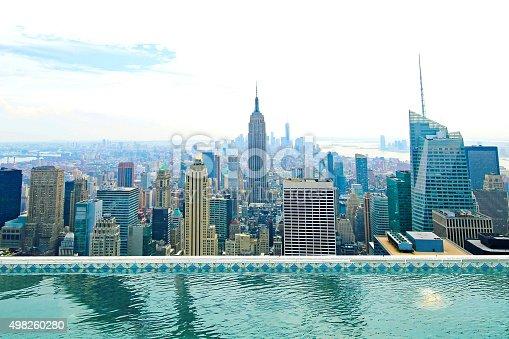 istock Beautiful NEW New York City Skyline Pool 498260280
