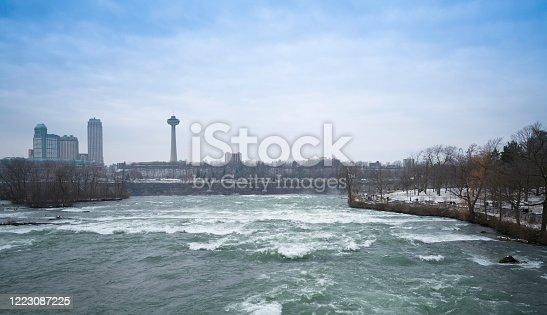 istock Beautiful Niagara falls, A view from Niagara State Park on American Falls. 1223087225