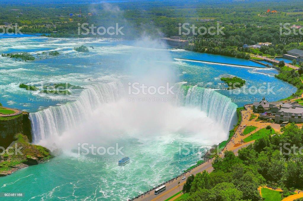 Beautiful Niagara falls. stock photo