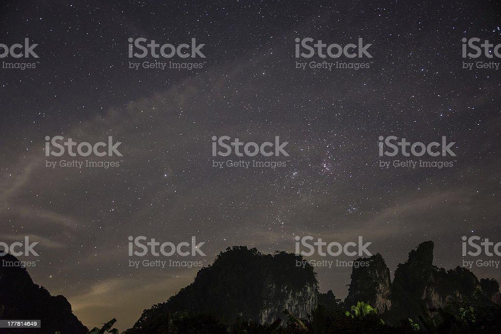 Beautiful night at Khao Sok National Park. royalty-free stock photo