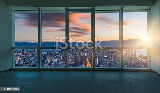 istock Beautiful night cityscape outside the windows, san francisco 624888894