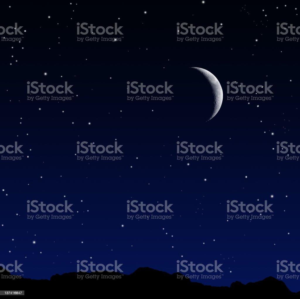 Beautiful night royalty-free stock photo