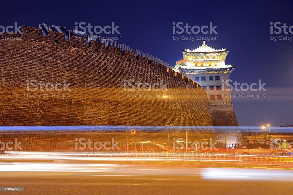 Beautiful Night Scene of China Castle royalty-free stock photo