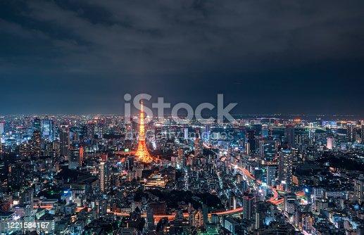 512524478 istock photo beautiful night scene of tokyo skyline 1221584167