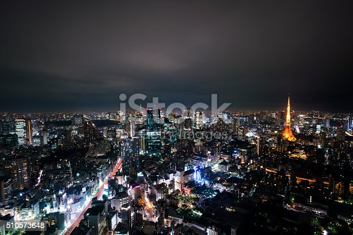 512524478 istock photo beautiful night scene of  tokyo skyline 510573648