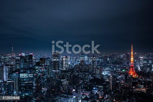 512524478 istock photo beautiful night scene of  tokyo skyline 512524646