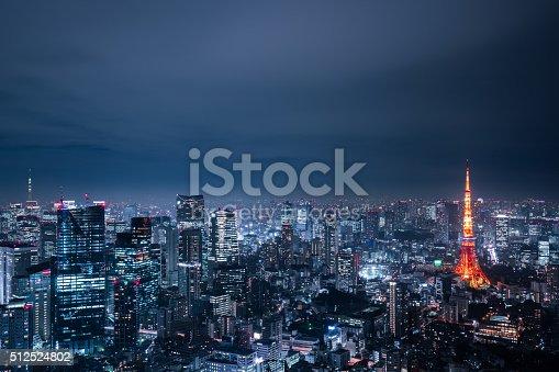 512524478 istock photo beautiful night scene of  tokyo skyline 512524802
