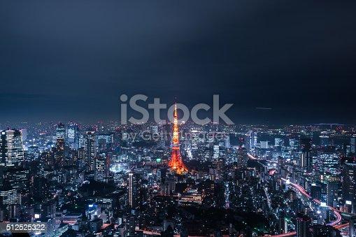 512524478 istock photo beautiful night scene of  tokyo skyline 512525322