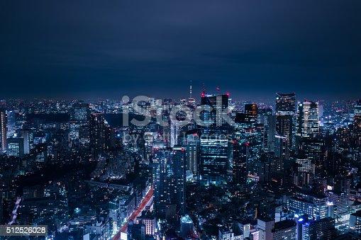 512524478 istock photo beautiful night scene of  tokyo skyline 512526028