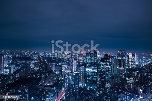 512524478 istock photo beautiful night scene of  tokyo skyline 512526182