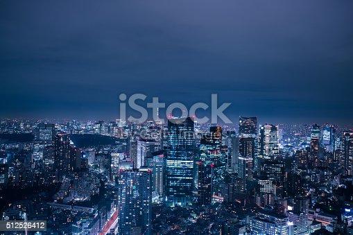 512524478 istock photo beautiful night scene of  tokyo skyline 512526412