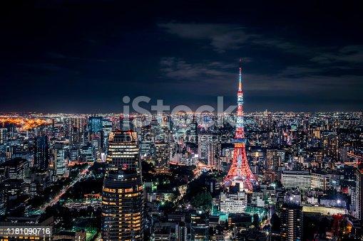 512524478 istock photo Beautiful Night Scene of Tokyo Skyline,Japan 1181090716