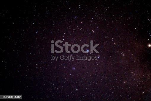 653506436istockphoto Beautiful night sky and many stars. 1023919052