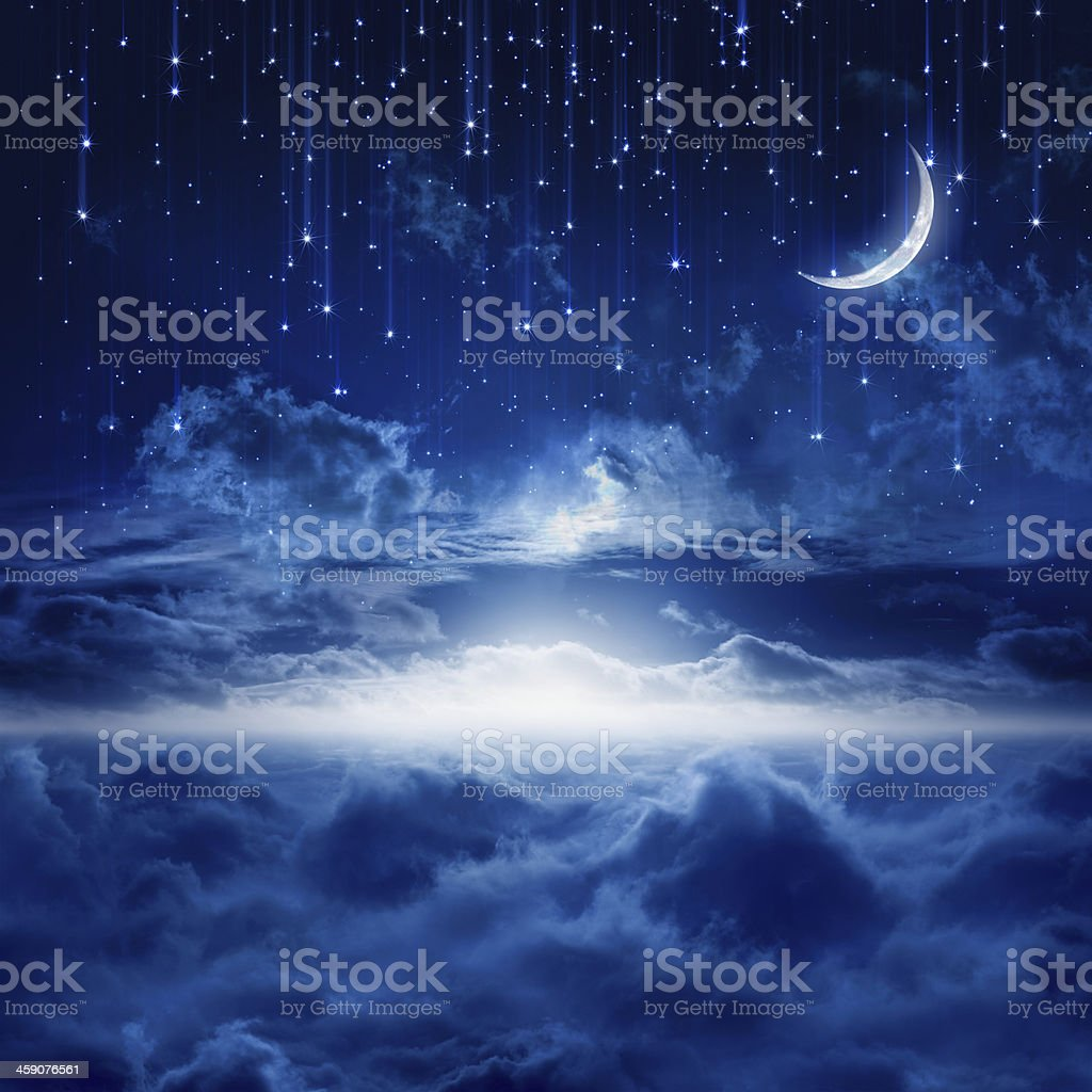 Beautiful night sky stock photo
