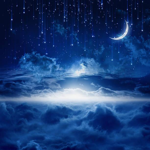 美しい夜空 - 幻想 ストックフォトと画像
