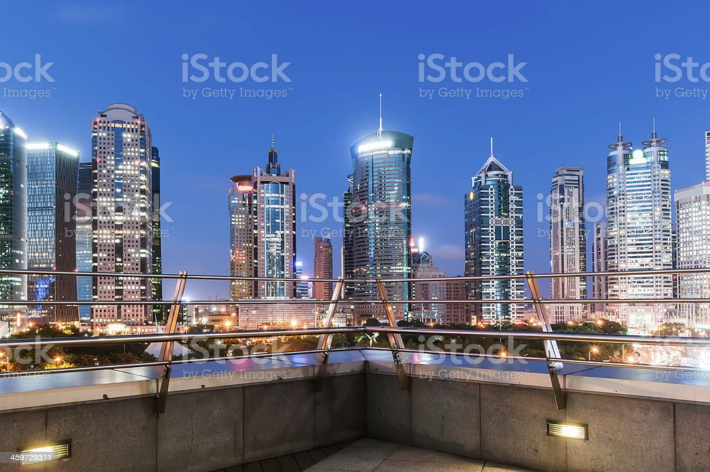 beautiful night view in shanghai stock photo