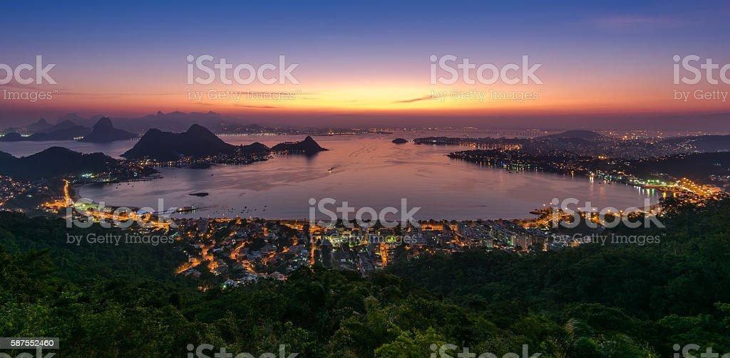 Beautiful Night View of Rio de Janeiro stock photo