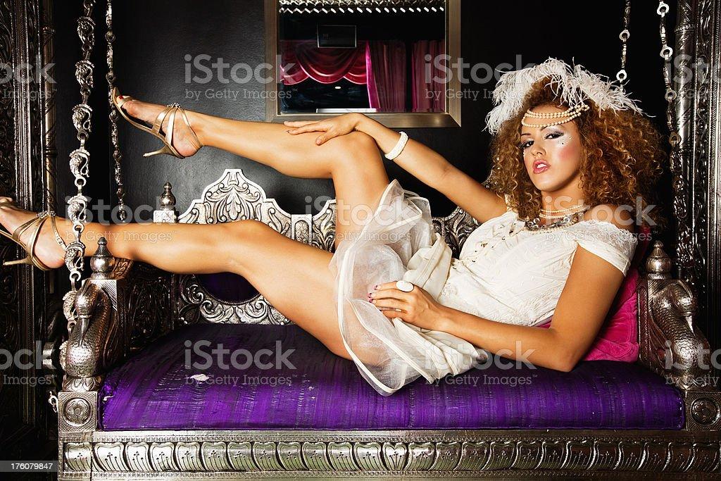 beautiful nightclub diva royalty-free stock photo