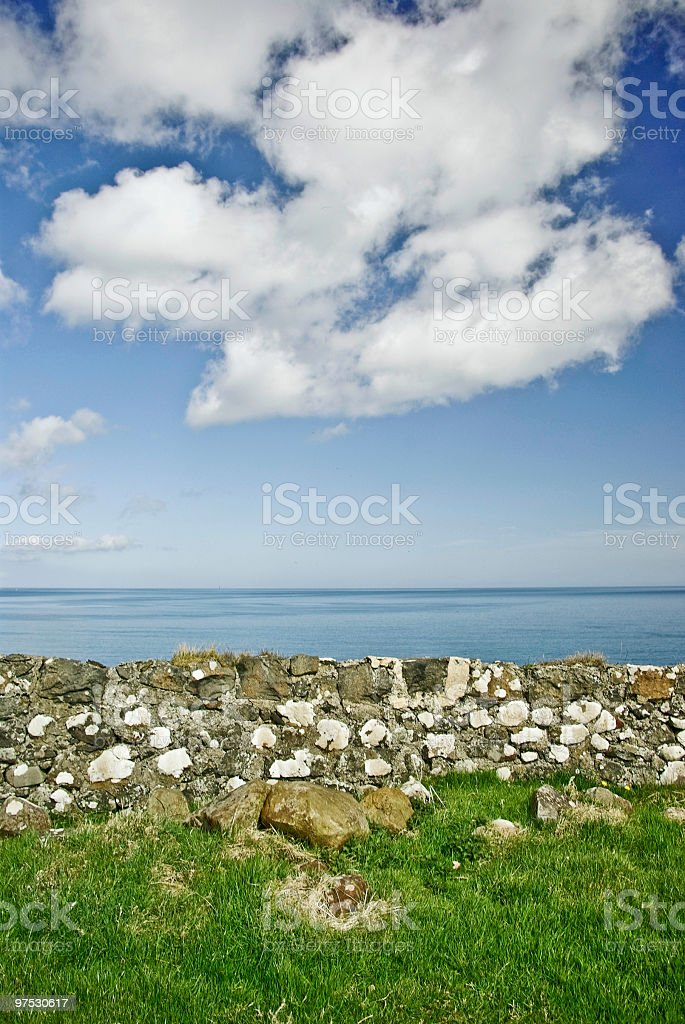 Beautiful Northern Irish coastline between Belfast and Derry royalty-free stock photo