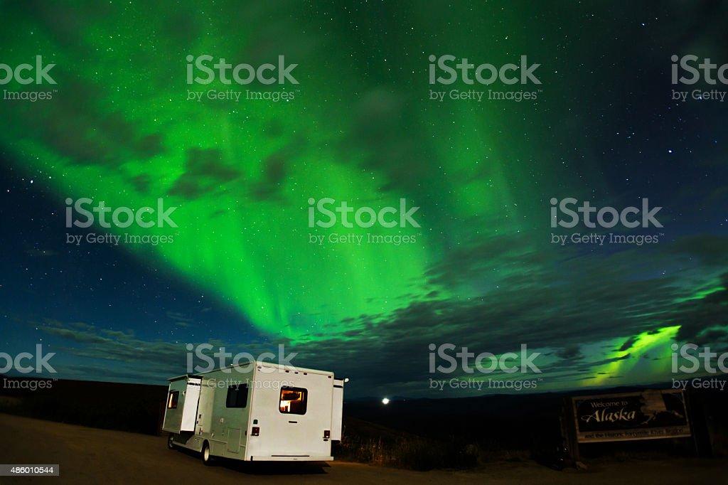 Beautiful Northern Lights Show At Alaskayukon Border Stock Photo Download Image Now