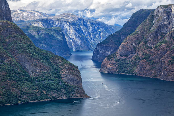 beautiful norway - fjord stock photos and pictures