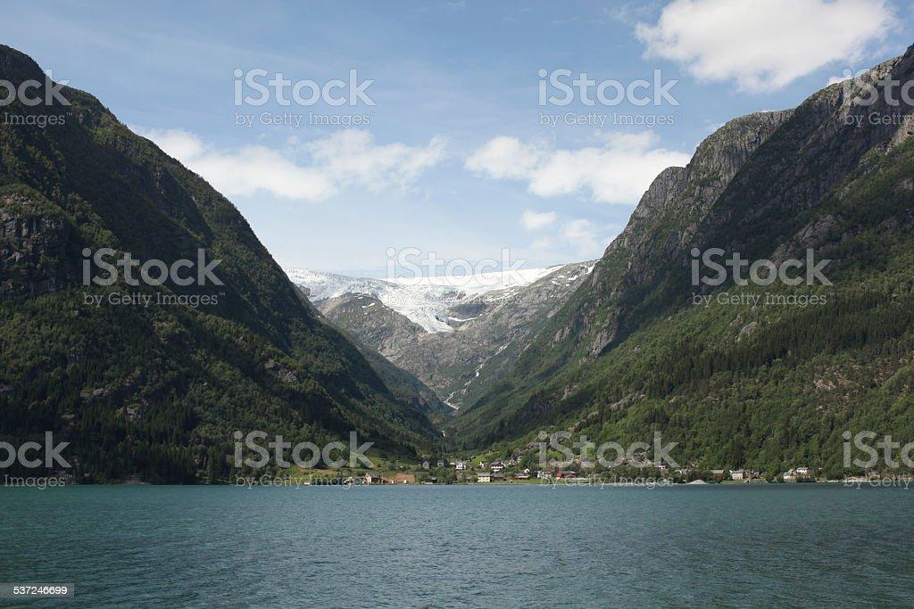 beautiful Norwegian fjords stock photo