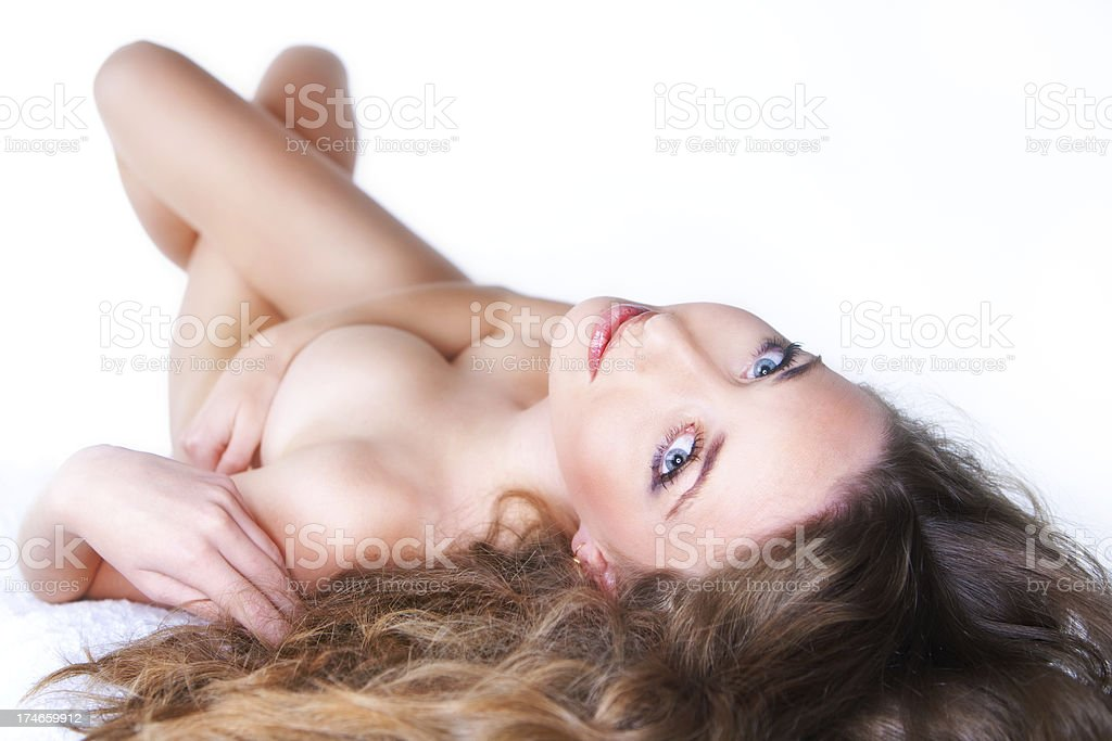 Beautiful nude girl royalty-free stock photo