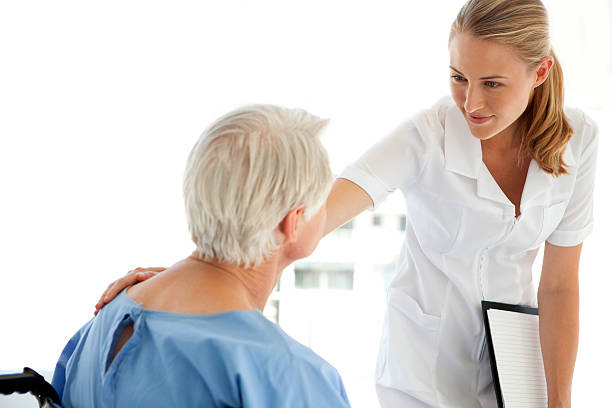 royalty free blonde nurse with patient pictures images and stock
