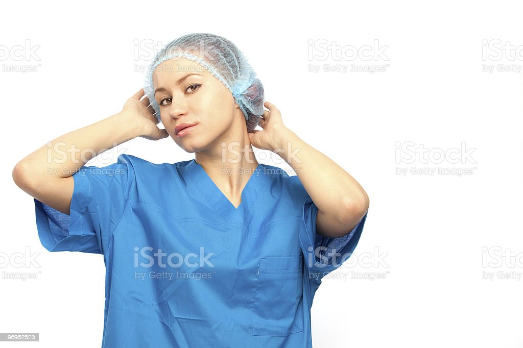 beautiful nurse royalty-free stock photo