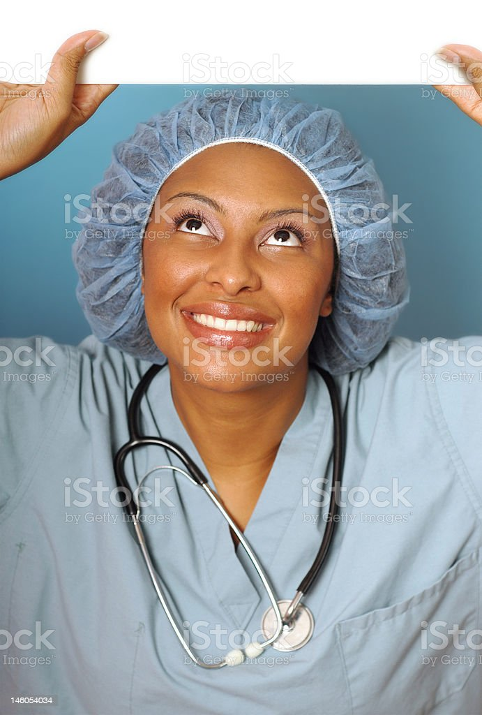 Beautiful nurse with copy space royalty-free stock photo