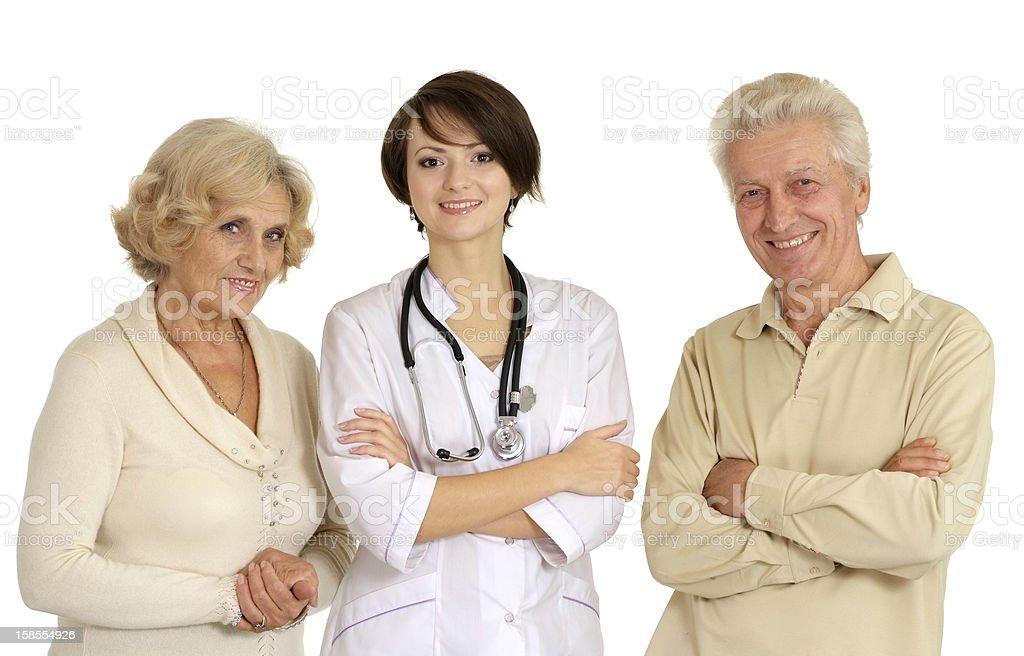 아름다운 간호사 및 고령 환자 royalty-free 스톡 사진