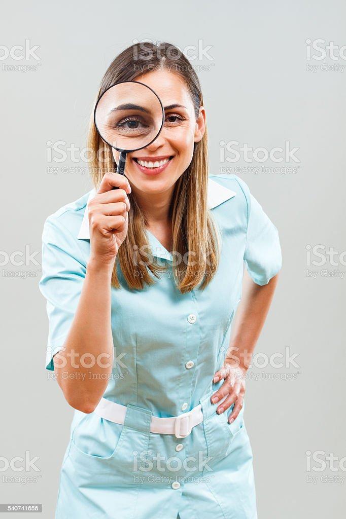 медсестры с красивыми глазами