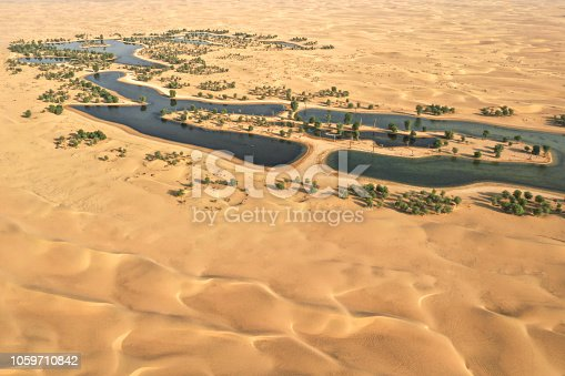 istock Beautiful oasis in the desert. 1059710842