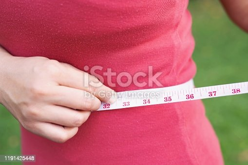 istock Beautiful obese women want to lose weight by dieting and exercising regularly. 1191425448