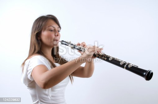 Young oboist is working hard to become a maestro.