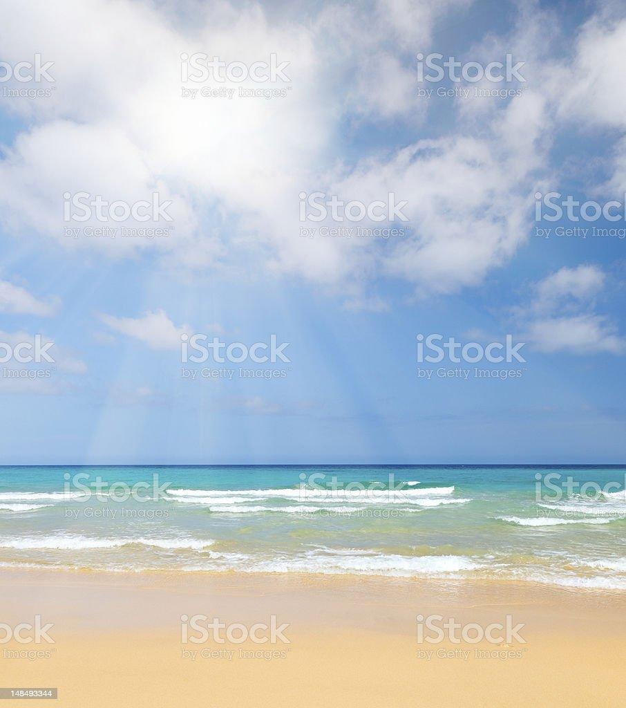 Beautiful ocean beach royalty-free stock photo
