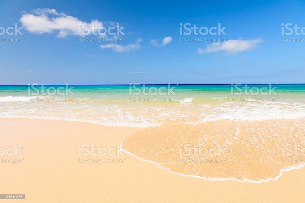 Beautiful ocean beach stock photo