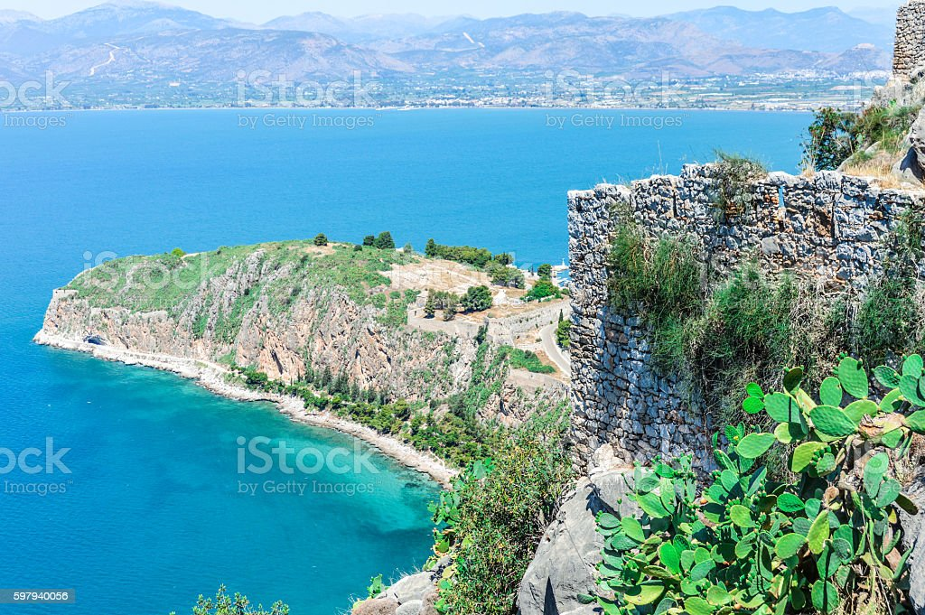Beautiful ocean coastline in Greece foto royalty-free