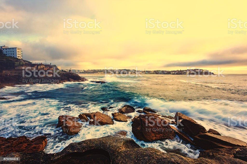 beautiful ocean sunrise royalty-free stock photo