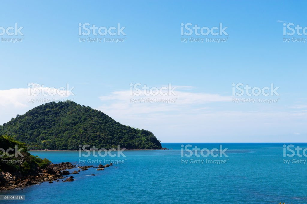Beautiful of sky with clouds over sea. - Royalty-free Above Stock Photo