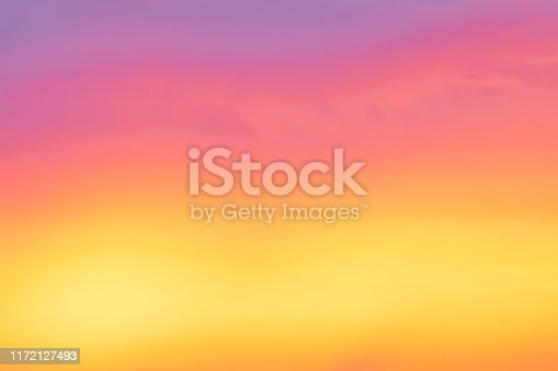 Beautiful of sunset with colorful sky in summer time