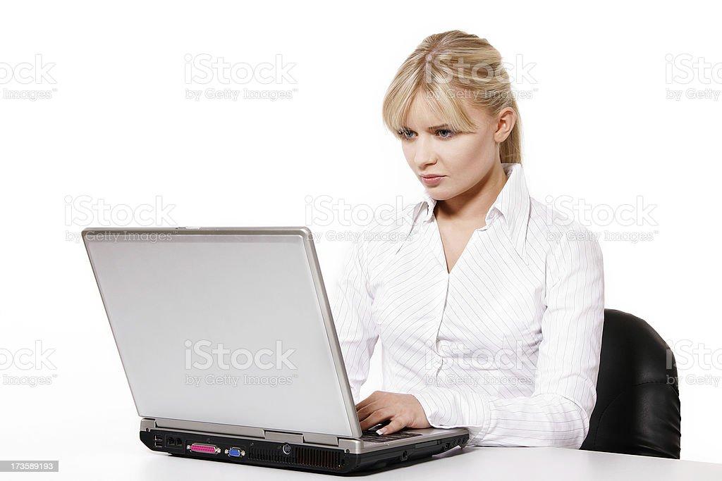Beautiful office worker stock photo