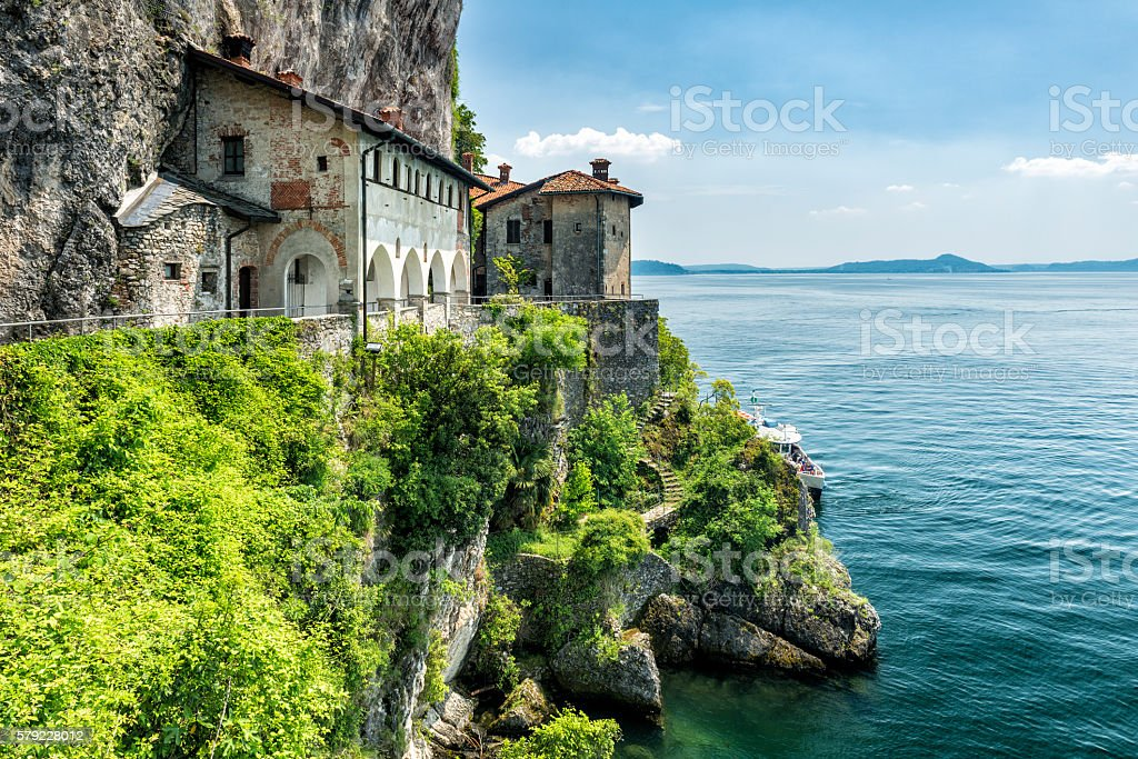 beautiful old convent at Lago Maggiore stock photo