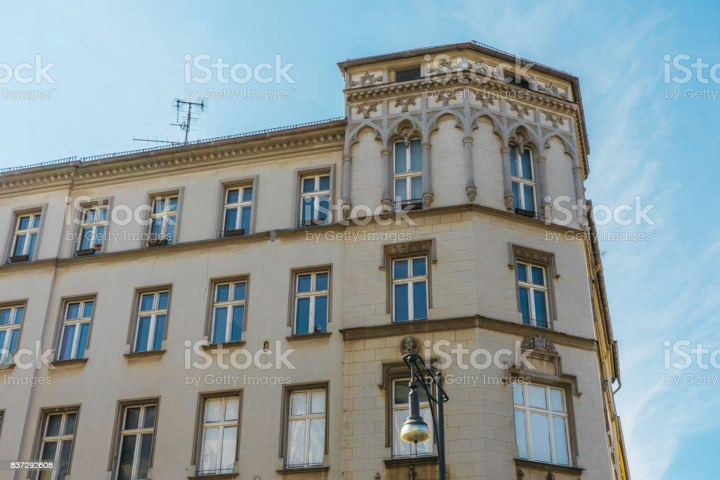 beautiful old corner building at berlin stock photo