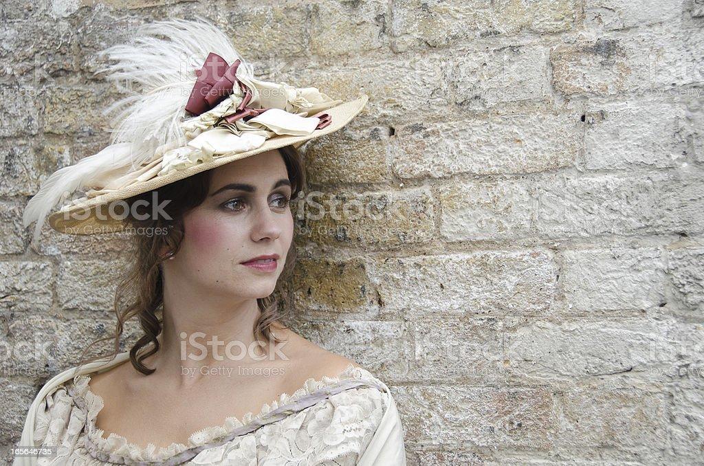 Beautiful Old Fashioned Woman royalty-free stock photo