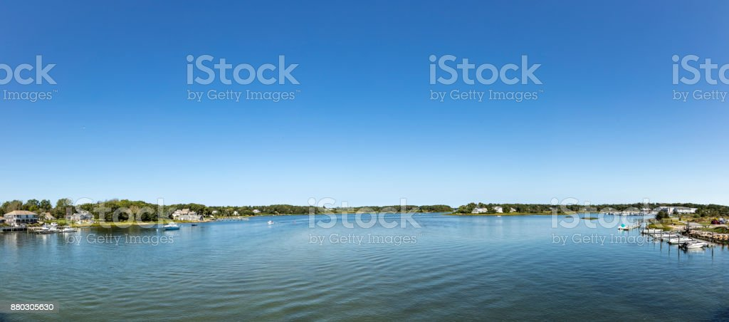 beautiful old houses, beaches and lakes   at Yarmouth, Massachussets stock photo